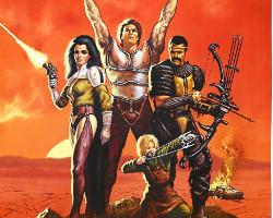 Una imagen del póster de Los nuevos bárbaros, dirigida por Enzo G. Castellari