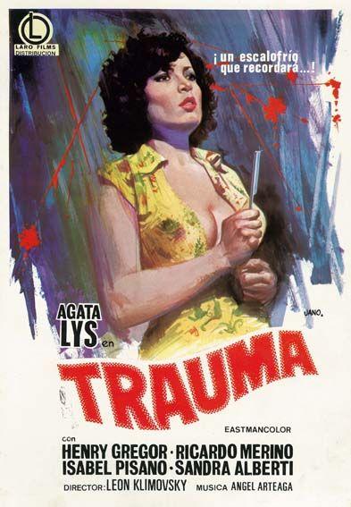 Póster de Trauma, dirigida por León Klimovsky