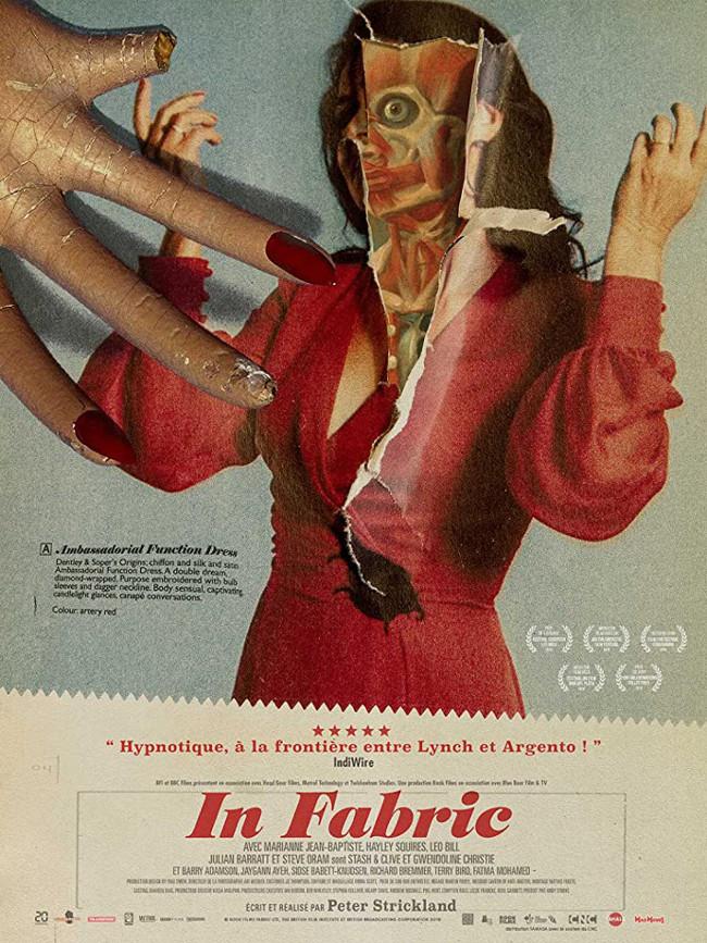 Póster de la película In Fabric (2018), dirigida por Peter Strickland