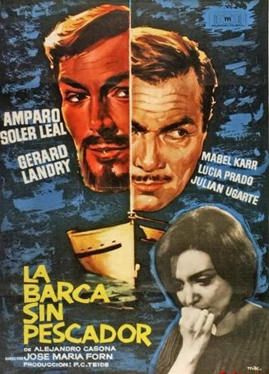 Cartel español de La barca sin pescador, dirigida por Josep Maria Forn