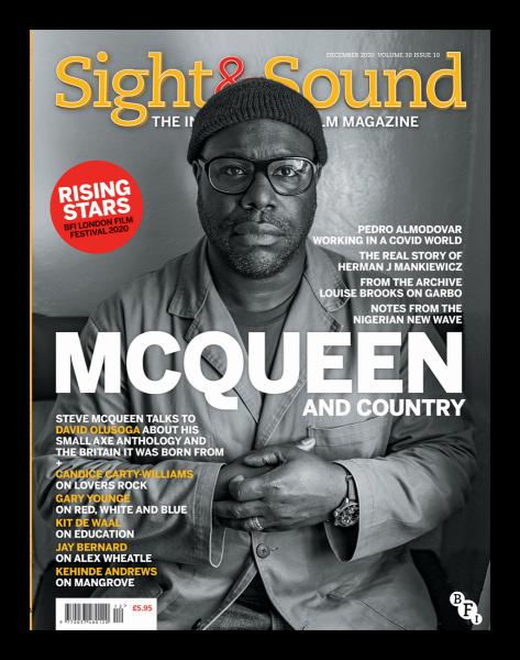 Portada del número de diciembre de 2020 de la revista Sight&Sound