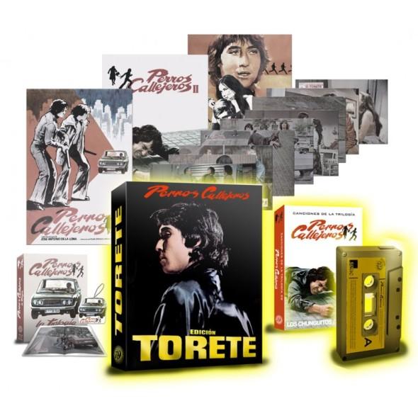 Contenido de la edición Torete, de la trilogía Perros callejeros en Blu-ray