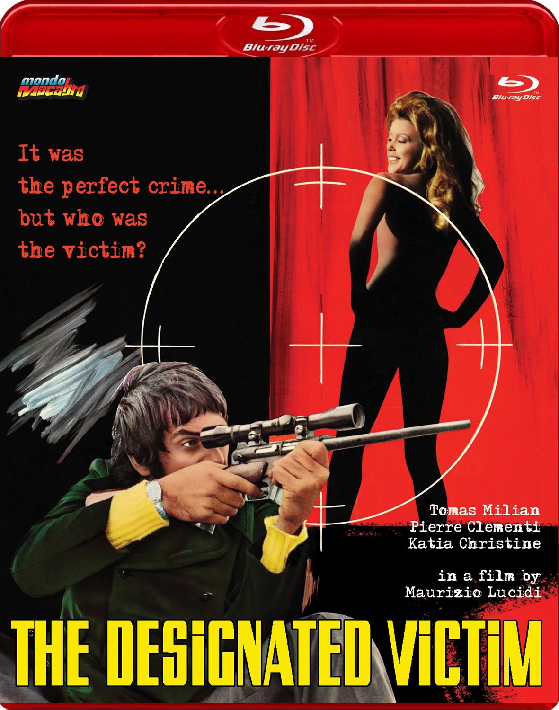 Portada del Blu-ray de Mondo Macabro de La víctima designada, dirigido por Maurizio Lucidi