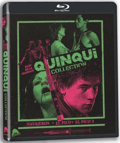 Portada de la trilogía de cine quinqui, editada en Blu-ray por Severin Films